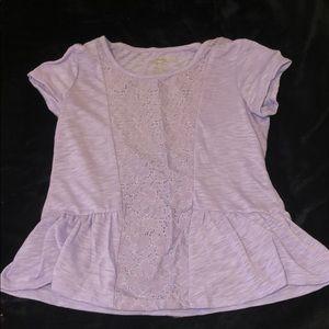 Lavender purple tee shirt